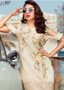 MusCari Embroidered Lawn Unstitched 3 Piece Suit MUS18L 107 - Spring / Summer Collection