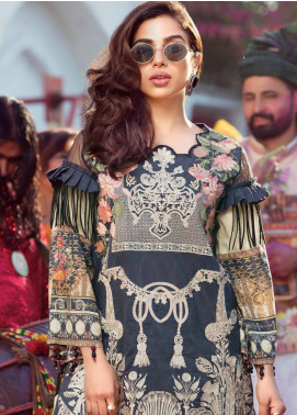 MusCari Embroidered Lawn Unstitched 3 Piece Suit MUS18L 109 - Spring / Summer Collection