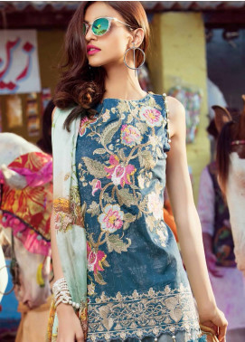 MusCari Embroidered Lawn Unstitched 3 Piece Suit MUS18L 110 - Spring / Summer Collection