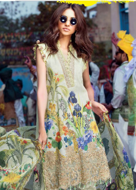 MusCari Embroidered Lawn Unstitched 3 Piece Suit MUS18L 113 - Spring / Summer Collection