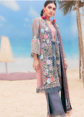 MusCari Embroidered Lawn Unstitched 3 Piece Suit MC19L 03 STORMY WEATHER - Spring / Summer Collection