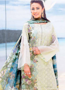 MusCari Embroidered Lawn Unstitched 3 Piece Suit MC19L 06 PALM LIME - Spring / Summer Collection