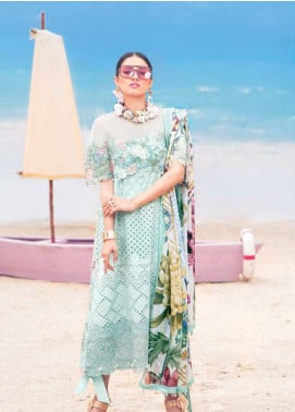 MusCari Embroidered Lawn Unstitched 3 Piece Suit MC19L 13 BEACH GLASS - Spring / Summer Collection