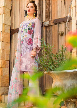 MusCari Embroidered Lawn Unstitched 3 Piece Suit MC19F 03 LOTUS - Festive Collection