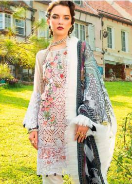 MusCari Embroidered Chikankari Unstitched 3 Piece Suit MC19F 06 WHITE DIAMOND - Festive Collection