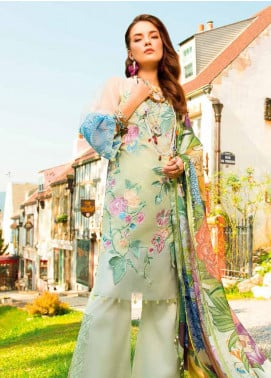 MusCari Embroidered Lawn Unstitched 3 Piece Suit MC19F 07 BUTTERFLY - Festive Collection