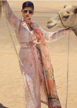 Mushq Embroidered Organza Unstitched 3 Piece Suit MSQ19F 08 CARAVAN - Eid Collection