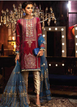 Mushq Embroidered Velvet Unstitched 3 Piece Suit MQ19V 01 CABARET - Winter Collection