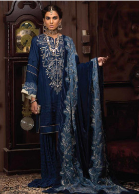 Mushq Embroidered Raw Silk Unstitched 3 Piece Suit MQ19V 03 TWILIGHT - Winter Collection