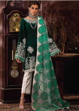 Mushq Embroidered Velvet Unstitched 3 Piece Suit MQ19V 04 DYNASTY - Winter Collection