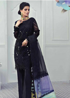 Mushq Embroidered Chiffon Unstitched 3 Piece Suit MSQ19LF 03 NORTHERN LIGHTS - Festive Collection
