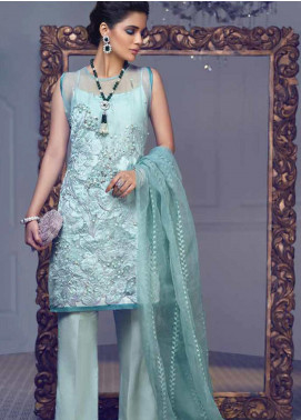 Mushq Embroidered Organza Unstitched 3 Piece Suit MSQ19LF 06 CASCADE - Festive Collection