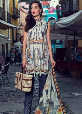 Mushq Embroidered Lawn Unstitched 3 Piece Suit MSQ19L 05 DRIMIA - Spring / Summer Collection
