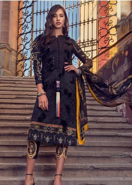 Mushq Embroidered Lawn Unstitched 3 Piece Suit MSQ19L 08 TULIPA - Spring / Summer Collection