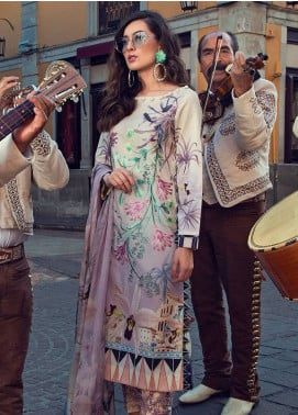 Mushq Embroidered Lawn Unstitched 3 Piece Suit MSQ19L 16 CANNA - Spring / Summer Collection