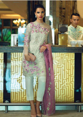 Mushq Embroidered Organza Unstitched 3 Piece Suit MSQ19FL 04 GLAM SHOW - Luxury Collection