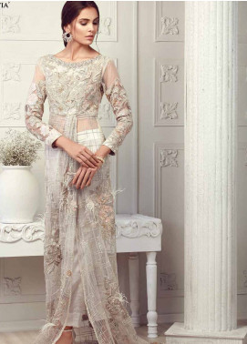 Mushq Embroidered Chiffon Unstitched 3 Piece Suit MQ18C 04 Flavia - Luxury Collection