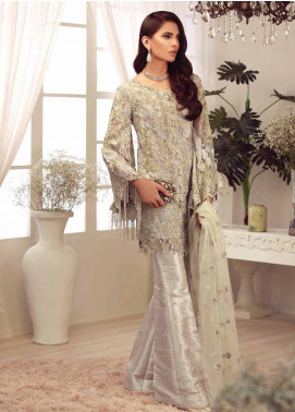 Mushq Embroidered Chiffon Unstitched 3 Piece Suit MQ18C 05 Prisca - Luxury Collection