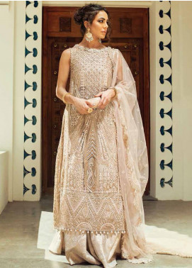 Trousseau de Luxe by Mushq Embroidered Net Unstitched 3 Piece Suit MQ20WD 5 Autumn Bloom - Luxury Collection