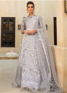 Trousseau de Luxe by Mushq Embroidered Net Unstitched 3 Piece Suit MQ20WD 8 Moonstruck - Luxury Collection