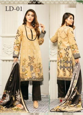 Muskan by Mohagni Embellished Lawn Unstitched 3 Piece Suit MMO20L 01 - Summer Collection
