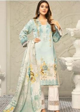 Muskan by Mohagni Embellished Lawn Unstitched 3 Piece Suit MMO20L 03 - Summer Collection