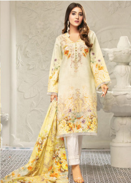 Muskan by Mohagni Embellished Lawn Unstitched 3 Piece Suit MMO20L 04 - Summer Collection