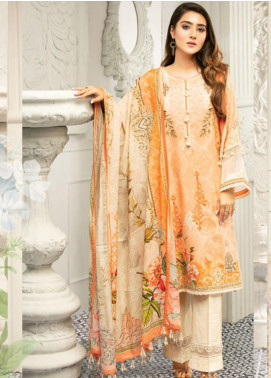 Muskan by Mohagni Embellished Lawn Unstitched 3 Piece Suit MMO20L 07 - Summer Collection