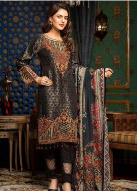 Muskari by Mohagni Embroidered Jacquard Unstitched 3 Piece Suit MMO19J 1 - Luxury Collection