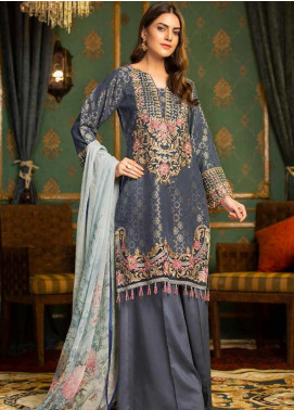 Muskari by Mohagni Embroidered Jacquard Unstitched 3 Piece Suit MMO19J 10 - Luxury Collection