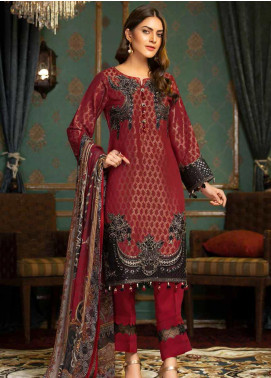 Muskari by Mohagni Embroidered Jacquard Unstitched 3 Piece Suit MMO19J 2 - Luxury Collection