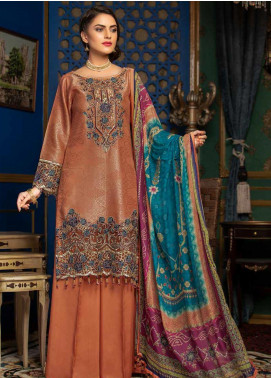Muskari by Mohagni Embroidered Jacquard Unstitched 3 Piece Suit MMO19J 3 - Luxury Collection