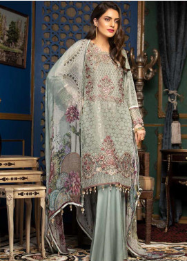 Muskari by Mohagni Embroidered Jacquard Unstitched 3 Piece Suit MMO19J 4 - Luxury Collection