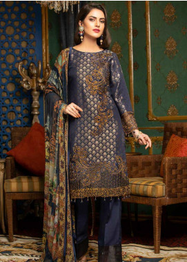 Muskari by Mohagni Embroidered Jacquard Unstitched 3 Piece Suit MMO19J 5 - Luxury Collection