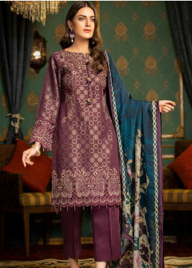 Muskari by Mohagni Embroidered Jacquard Unstitched 3 Piece Suit MMO19J 6 - Luxury Collection
