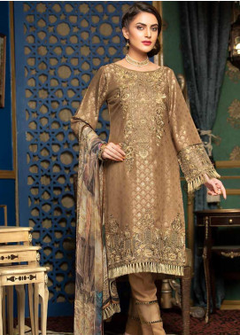 Muskari by Mohagni Embroidered Jacquard Unstitched 3 Piece Suit MMO19J 7 - Luxury Collection
