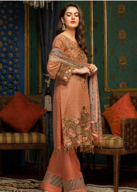 Muskari by Mohagni Embroidered Jacquard Unstitched 3 Piece Suit MMO19J 9 - Luxury Collection