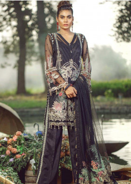 Hayyat Premium Embroidered Net Unstitched 3 Piece Suit HYP20MW 02 Havana Night - Luxury Collection
