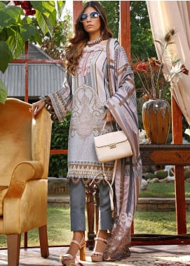 Mystique Embroidered Cotton Cotel Unstitched 3 Piece Suit MYS19W 02 - Winter Collection