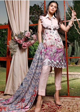 Mystique Embroidered Jacquard Unstitched 3 Piece Suit MYS19W 04 - Winter Collection