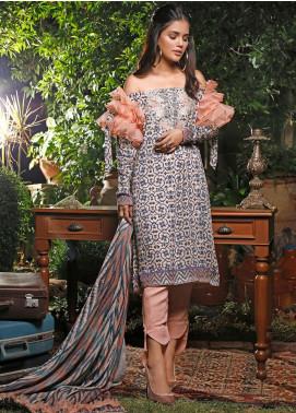 Mystique Embroidered Cotton Cotel Unstitched 3 Piece Suit MYS19W 08 - Winter Collection