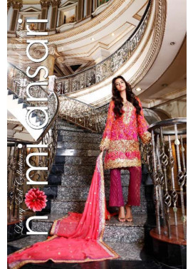 Nomi Ansari By Shariq Embroidered Chiffon Unstitched 3 Piece Suit NA17E 01