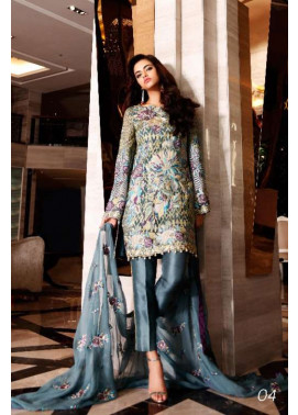 Nomi Ansari By Shariq Embroidered Chiffon Unstitched 3 Piece Suit NA17E 04