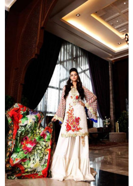 Nomi Ansari By Shariq Embroidered Chiffon Unstitched 3 Piece Suit NA17E 06