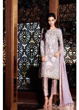 Nomi Ansari By Shariq Embroidered Chiffon Unstitched 3 Piece Suit NA17E 07