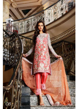 Nomi Ansari By Shariq Embroidered Chiffon Unstitched 3 Piece Suit NA17E 08