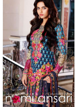 Nomi Ansari By Shariq Embroidered Chiffon Unstitched 3 Piece Suit NA17E 09