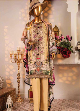 Naayaab Clothing Embroidered Lawn Unstitched 3 Piece Suit NY20D 1 - Spring / Summer Collection