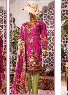 Naayaab Clothing Embroidered Lawn Unstitched 3 Piece Suit NY20D 10 - Spring / Summer Collection