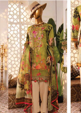 Naayaab Clothing Embroidered Lawn Unstitched 3 Piece Suit NY20D 3 - Spring / Summer Collection